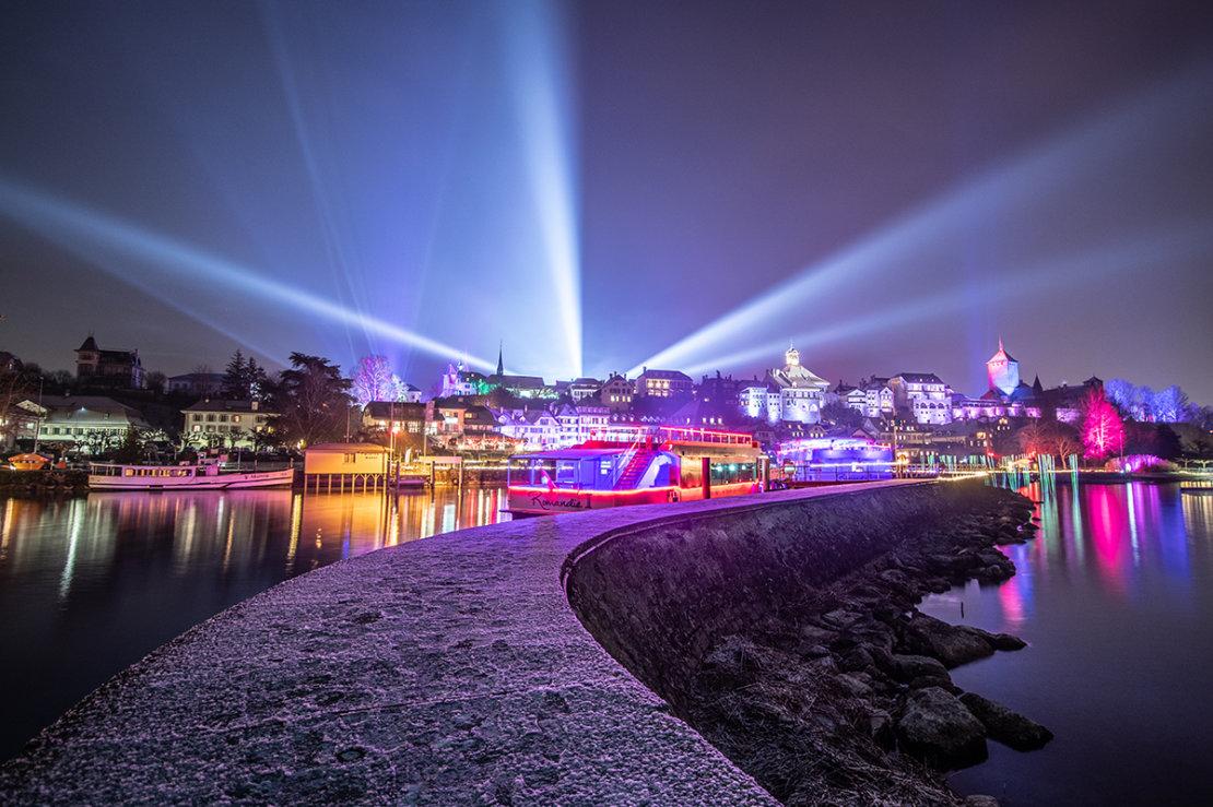 Murten Lichtfestival Hafen