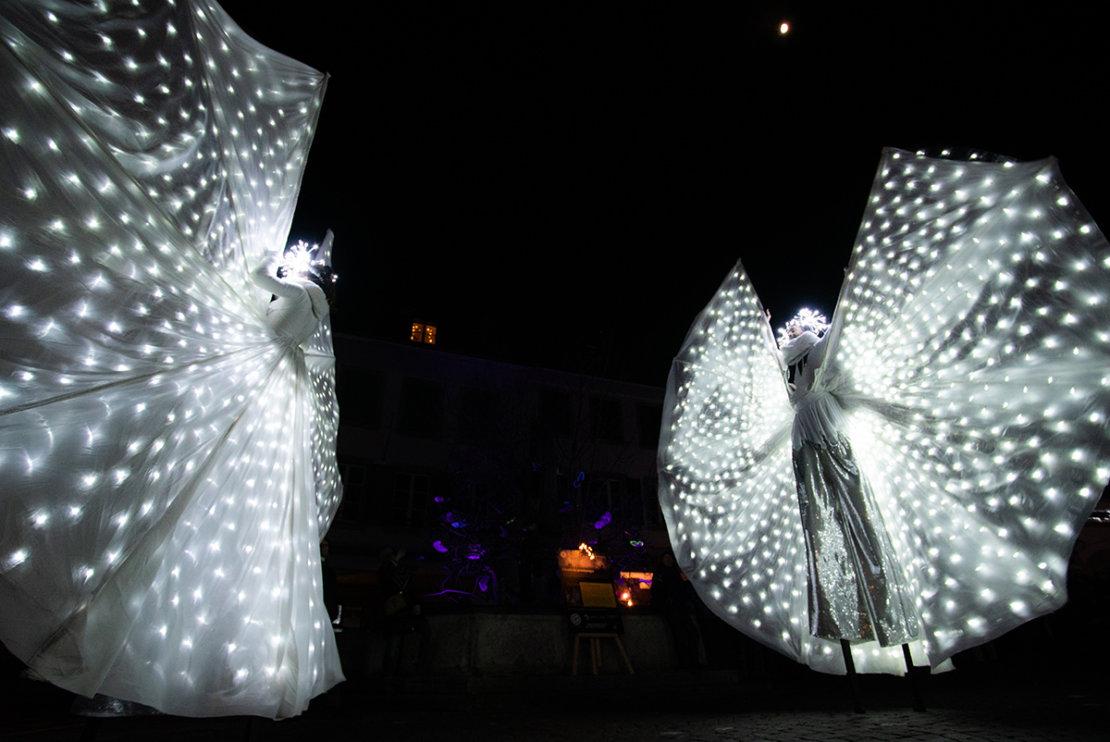Festival Lumières Morat papillion lumères
